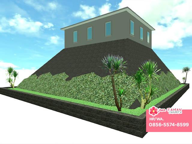 Desain taman tebing