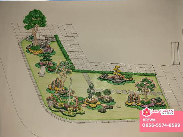 Sketsa desain tukang taman