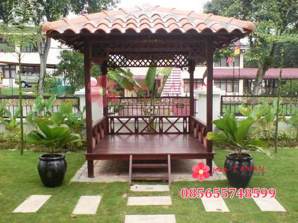 Jasa pembuatan gazebo pinggir taman di Jakarta